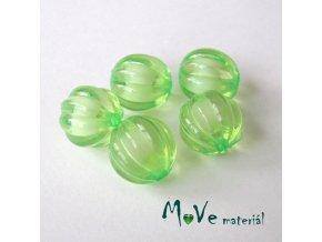 Korálek plast kulička 12mm, 5ks, sv. zelený