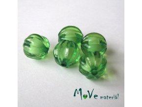 Korálek plast kulička 12mm, 5ks, zelený