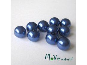 České voskové perle modré 11mm, 10ks