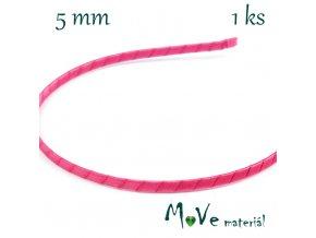 Čelenka jednoduchá potažená fialovorůžová/5mm