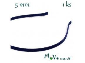 Čelenka jednoduchá potažená tm. modrá/5mm