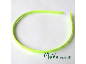 Čelenka jednoduchá potažená neonově zelená/5mm