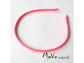 Čelenka jednoduchá potažená neonově růžová/5mm