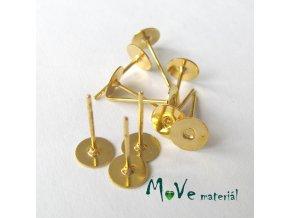 Vlepovací puzeta zlatá 10ks (5 párů)