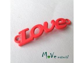 Mezikus LOVE 8x38mm, 1ks, růžovočervený