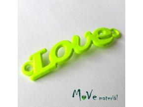 Mezikus LOVE 8x38mm, 1ks, neonově žlutý