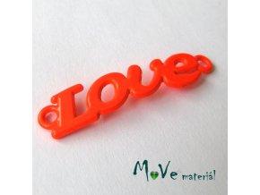 Mezikus LOVE 8x38mm, 1ks, neonově oranžový