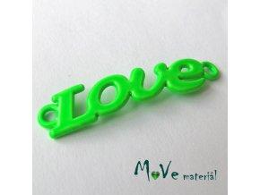 Mezikus LOVE 8x38mm, 1ks, neonově zelený