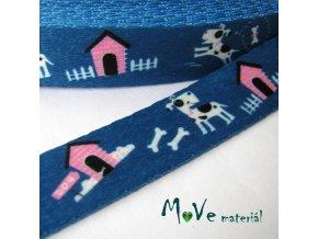 Popruh oboustranný nylonový šíře 20mm,1m, modrý