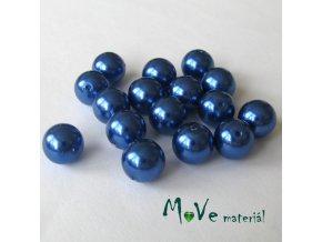 České voskové perle 9mm/16ks (cca 20g), modré