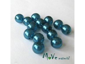 České voskové perle 10mm,14ks, tyrkysové