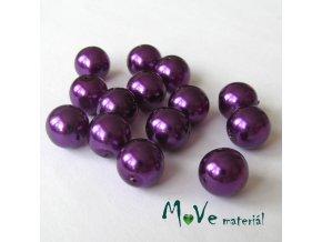 České voskové perle 10mm,14ks, fialové