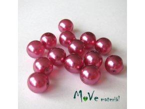 České voskové perle 10mm,14ks, růžovofialové II