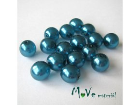 České voskové perle 10mm,16ks, tyrkysové