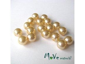 České voskové perle 9mm/18ks (cca 20g), krémové