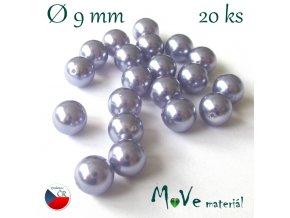 České voskové perle 9mm/20ks (cca 20g), lila