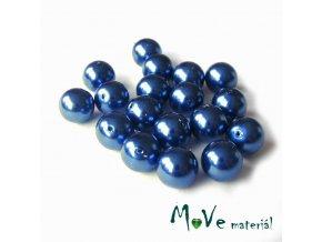 České voskové perle 9mm/18ks (cca 20g), modré