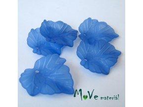 Akrylové matné lístečky, 5ks, modré