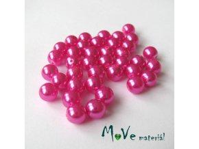 České voskové perle růžové 6mm/38ks (cca 10g)