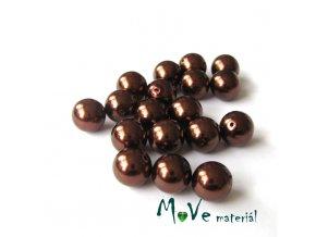 České voskové perle 9mm/18ks (cca 20g), hnědé