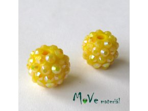 Pryskyřičný korálek - kulička 14mm,1ks, žlutý