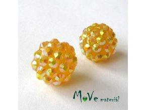 Pryskyřičný korálek - kulička 14mm,1ks, tm. žlutý