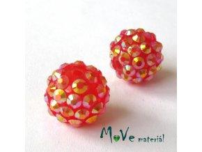 Pryskyřičný korálek - kulička 14mm,1ks, červený