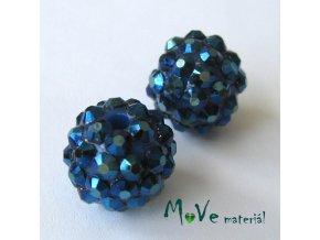 Pryskyřičný korálek - kulička 14mm,1ks, tm. modrý