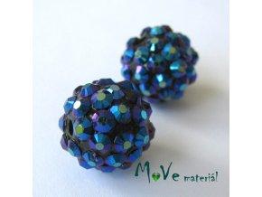 Pryskyřičný korálek - kulička 14mm,1ks, fialovomodrý