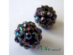 Pryskyřičný korálek - kulička 14mm,1ks, fialovočerný