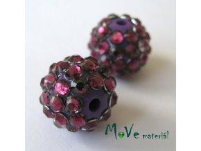 Pryskyřičný korálek - kulička 14mm,1ks, fialový