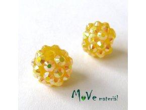 Pryskyřičný korálek - kulička 12mm,1ks, žlutý