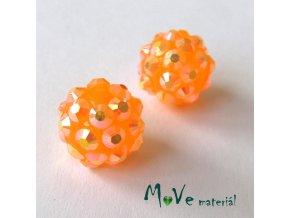 Pryskyřičný korálek - kulička 12mm,1ks, oranžový