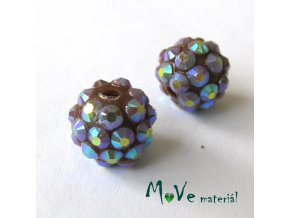 Pryskyřičný korálek - kulička 12mm,1ks, hnědý