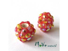 Porcelánový korálek - kulička 12mm,1ks, jahodový
