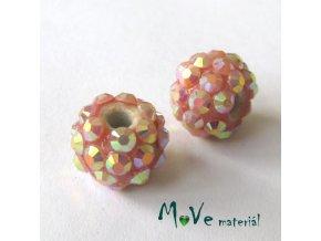 Porcelánový korálek - kulička 12mm,1ks, pudrový