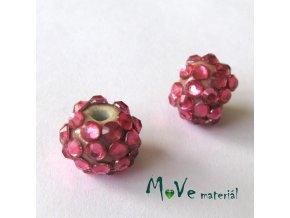 Porcelánový korálek - kulička 12mm,1ks, růžový