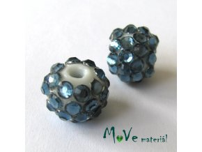 Porcelánový korálek - kulička 12mm,1ks, holubí