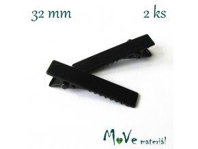 Spona do vlasů plochá se zoubky délka 32mm, 2ks
