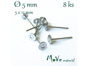 Vlepovací puzeta 8ks (4pár), chirurg. ocel