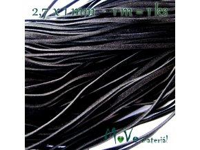 Plochá syntetická kůže, 1m, černá