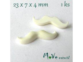 Kabošon KNÍR- resin - 1ks, bílý