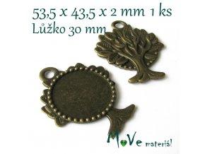 Kovové masivní lůžko STROM 53,5x43,5mm
