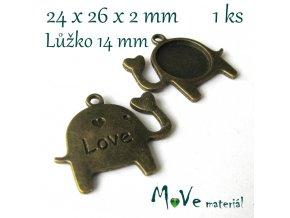 Kovové lůžko SLON 24x26x2mm