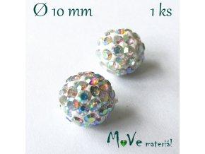 Polymerový korálek - kulička 10mm,1ks, měňavý
