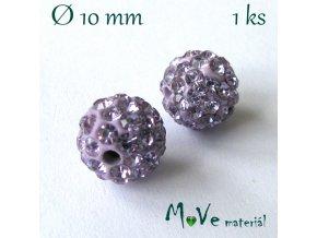 Polymerový korálek - kulička 10mm,1ks, fialový
