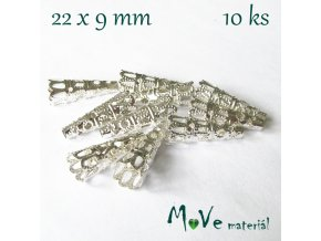 Kaplík filigránový stříbrný 22x9mm 10ks