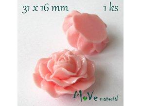 Kabošon lesklý K4 - resin - 1ks, růžový