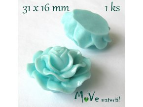 Kabošon lesklý K4 - resin - 1ks, tyrkysový