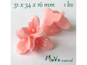 Kabošon lesklý K5 - resin - 1ks, růžový